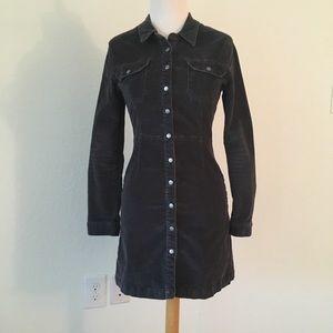 ASOS Corduruoy-Style Button Down Dress, Sz 4